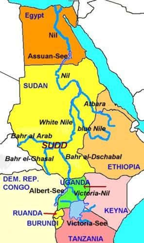 Karte ägypten Nil.Der Nil